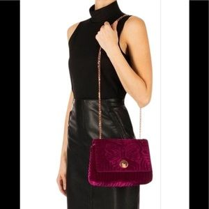 Ted Baker Rachila Fuchsia Suede Shoulder Bag